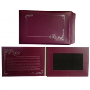 China wholesale greeting cards and envelopes with 7 inch video screen/video card on sale