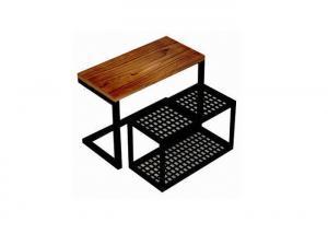 Quality Practical Wood Mobile Nesting Display Tables Space Saving For Shopping Mall for sale