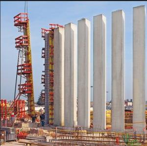 China Safety Orange / Yellow Column Formwork Systems Flexible With Electrophoretic Paint on sale