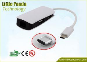 China Multifunctional 1 Port 10/100/1000Mbps RJ45 Gigabit USB Ethernet Adapter with 2 Ports USB Type C Hub on sale