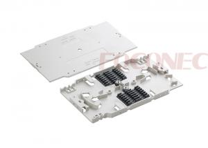 China Fiber Optic Accessories 12 Fiber Splice Tray , ABS Material for Rackmount Patch Panels on sale