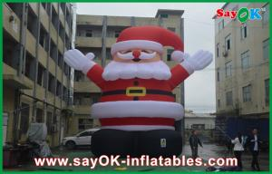 China Inflatable Holiday Decorations 8m Height Red Big Christmas Santa Claus With Oxford Cloth on sale