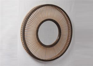 China ZY919095 Bedroom Full Circle European Bamboo Wall Decor Mirror on sale