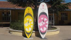 China Big Width Inflatable Paddle Board For Kids , 8 Feet Long 4 Inch Thickness SUP Paddle Boards on sale