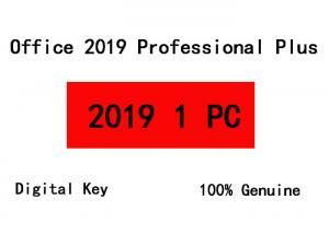 China Windows Microsoft Office 2019 Key Code , 1PC Bind Account Office 2019 Plus Key on sale