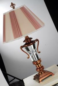 China Incandescent 230V southwest style table lamps with VDE 2core / 3core Power Cable on sale
