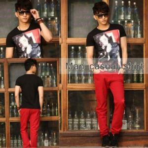 China 2012 Fashionable Men Short Shirt 50205 on sale