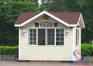 China Insulation Outdoor Kiosk Security Guard Booths Easy Assembly , Custom Size on sale