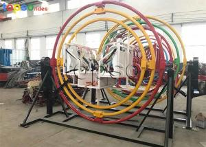China 4 Seat Human Gyroscope Rides Outdoor Playground 3D Space Rings Ride 3 M Diameter on sale
