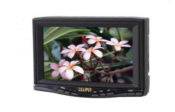 Remote Control 7 Inch TFT LCD TV Monitor With 2 Video Input Lilliput 718GL 70TV Images