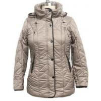 China Heavy Thick Solid Hooded Coat For Women Short Type 100% Polyester Lining on sale