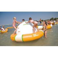 Durable PVC Tarpaulin Water Inflatable Saturn Rocker Customized Design