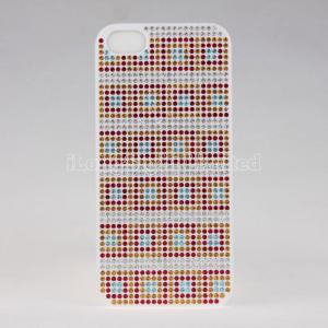 China Change Color Check Diamond Plastic Case For iPhone 5 on sale