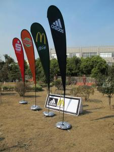 China Waterproof / UV protection advertising feather beach , Digital Printing flags banners on sale