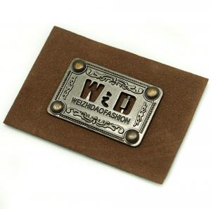 China Faux Personalized Leather Luggage Tags Metal Logo Multi Purpose For Hats on sale
