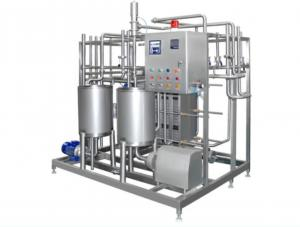 China Automatic Pasteurized Milk Processing Line , Yogurt Production Line Equipment 6000-10000LPH on sale