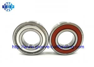 China SAE51200 Steel 6203LU One Way Ball Bearing Rubber Seal With Locating Snap Ring on sale