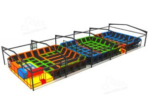China Gymnastic Indoor Play Equipment , Indoor Trampoline Park Installation Draft Provided on sale