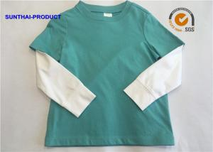 China 2 - 12 Size Plain Baby Clothes 100% Cotton Jersey Long Sleeve Layering Tee on sale