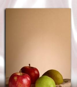 China Ti-copper PVD Coated Mirror Finish Stainless Steel Sheet For Wall Decoration Plate on sale