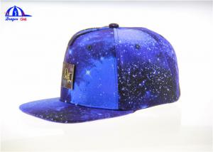 China Cool Sublimation Logo Snapback Baseball Hat and Cap With Metal Pin Logo on sale