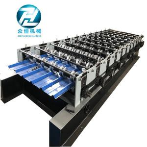 China Arch Color Coated Corrugated Iron Sheet Making Machine 8m / Min Processing Speed on sale