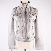 Lady Fashion Soft Pu Leather Jacket