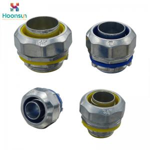 China Znic Alloy Flexible Conduit Connector Metallic Color Code LTC - 40 For Pipe on sale