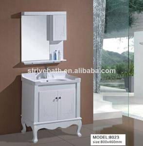 China modern solid wood bathroom vanity cabinet on sale