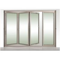 China Kitchen Anodized Alu Glass Foldable Windows With Frosted Tempered Glass on sale