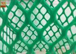 Heavy Duty Plastic Construction Netting Green Color 40 Mm * 40 Mm Hole Size