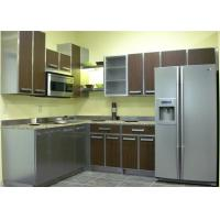 L Shaped Commercial Stainless Steel Kitchen Units Moisture Proof Particle Board Carcass