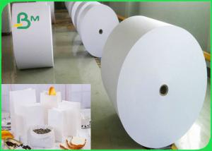 China Food Grade Bleached Kraft Paper Roll For Meat Package 60gsm 70gsm 80gsm 120gsm on sale