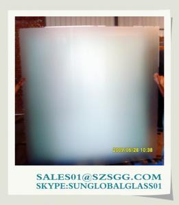 China 3mm to 19mm Frosted Bathroom Door Glass on sale