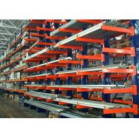Double Side Structural Cantilever Pallet Racking , Warehouse Storage Racking Systems