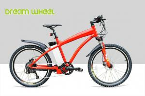 China Red Pedal Assist High End Electric Mountain Bikes 48v 500w Gear Motor Cruiser Bicycle On