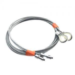 China Conjuntos ajustados da corda de fio do cabo da porta da garagem para portas de 7ft com molas de torsão on sale