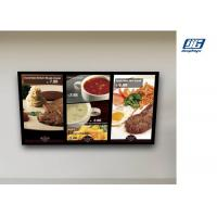 Wall Mounted Digital Advertising Display Screens High Resolution Menu Board