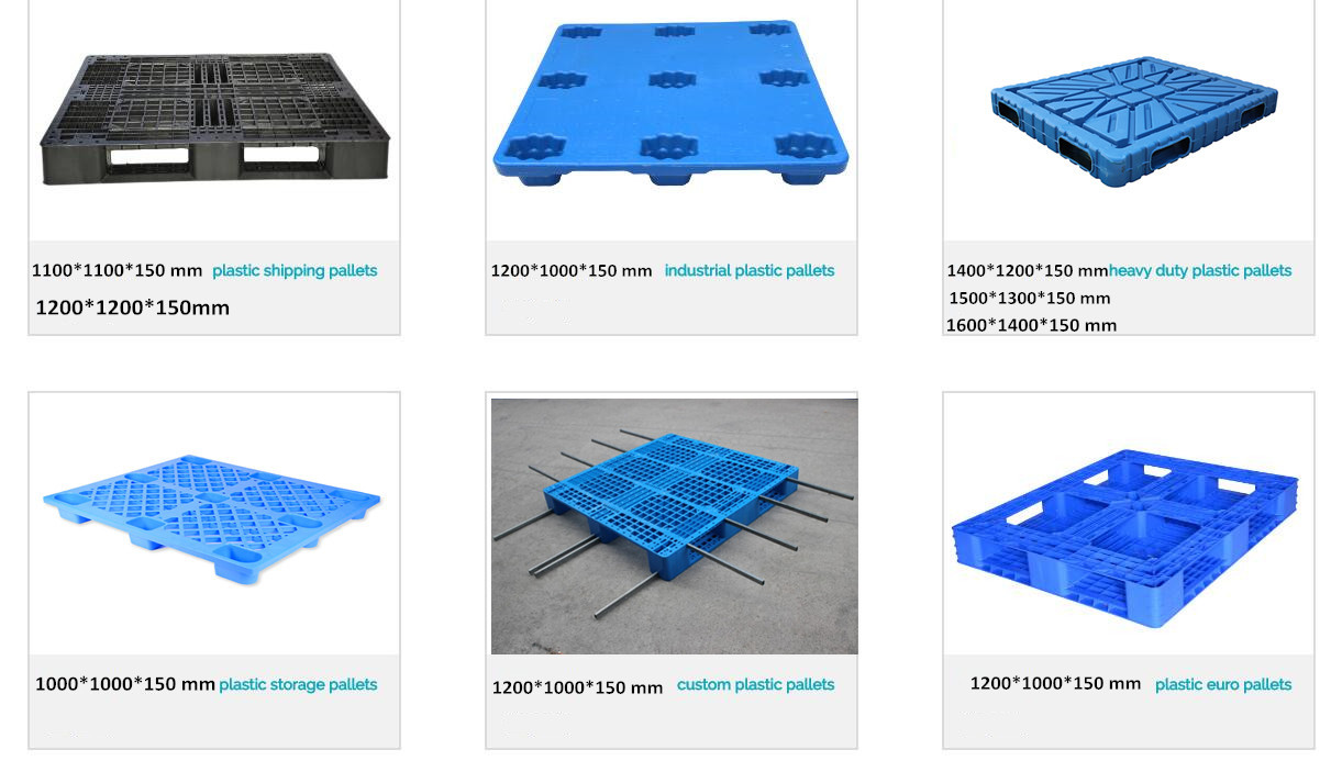 FP1210 Custom Medium Nestable Euro Surface Flat Top Plastic Pallet