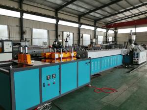 China High Efficiency PVC Pipe Machine Plastic Recycling Extruder Machine Abrasion Resistant on sale
