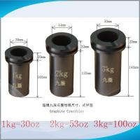 China JC High Purity Graphite Crucibles for Melting Gold with 10 pcs minimum order on sale