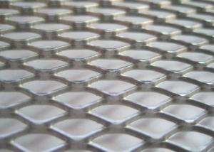 China Stainless Steel Diamond Mesh Sheet Skid Resistance ISO9001 Certification on sale