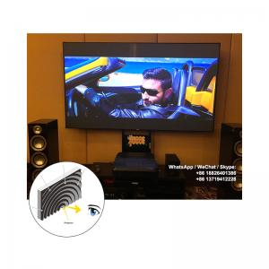 China XYSCREEN Fresnel Projection Screen UST ALR Projector Screen Fixed Frame Zero Edge 100 inch on sale