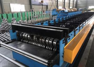 China Metal Deck Floor With Ribs Roll Forming Equipment PLC Control With Touch Screen on sale