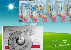 China Genuine Windows 7 Home Oem Key , Windows 7 Home Premium Product Key DVD Box on sale