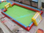 China 16L x 8W x 1.8H Meter Large Blow up Football pitch Inflatable Sports Games Rental wholesale