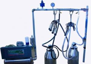 China Fully Refurbished Stainless Steel Bucket Milking Machine with Polished Pulsator on sale