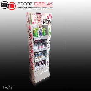 China Pop Cosmetic Cardboard Display Stand/Cardboard Advertising Display Stands on sale