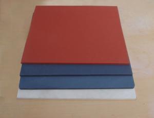 China Low Hardness Heat Press Silicone Sponge Rubber Foam Sheet red gray black on sale