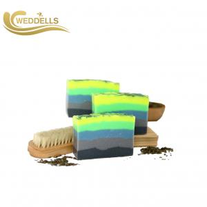 China Colorful Scented Natural Body Soap Bar With Box Packaging Eco Friendly on sale